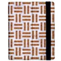 WOVEN1 WHITE MARBLE & RUSTED METAL (R) Apple iPad 3/4 Flip Case View2
