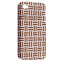 WOVEN1 WHITE MARBLE & RUSTED METAL (R) Apple iPhone 4/4S Hardshell Case (PC+Silicone) View2