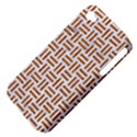 WOVEN1 WHITE MARBLE & RUSTED METAL (R) Apple iPhone 4/4S Hardshell Case (PC+Silicone) View4