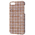 WOVEN1 WHITE MARBLE & RUSTED METAL (R) Apple iPhone 5 Hardshell Case with Stand View3