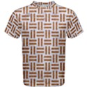 WOVEN1 WHITE MARBLE & RUSTED METAL (R) Men s Cotton Tee View1