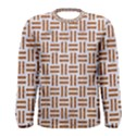 WOVEN1 WHITE MARBLE & RUSTED METAL (R) Men s Long Sleeve Tee View1