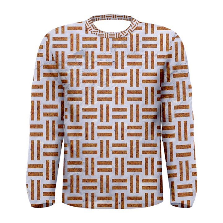 WOVEN1 WHITE MARBLE & RUSTED METAL (R) Men s Long Sleeve Tee