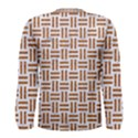 WOVEN1 WHITE MARBLE & RUSTED METAL (R) Men s Long Sleeve Tee View2