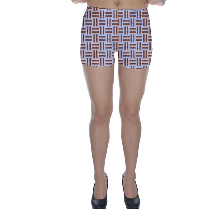 WOVEN1 WHITE MARBLE & RUSTED METAL (R) Skinny Shorts