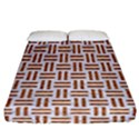 WOVEN1 WHITE MARBLE & RUSTED METAL (R) Fitted Sheet (California King Size) View1