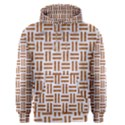 WOVEN1 WHITE MARBLE & RUSTED METAL (R) Men s Pullover Hoodie View1