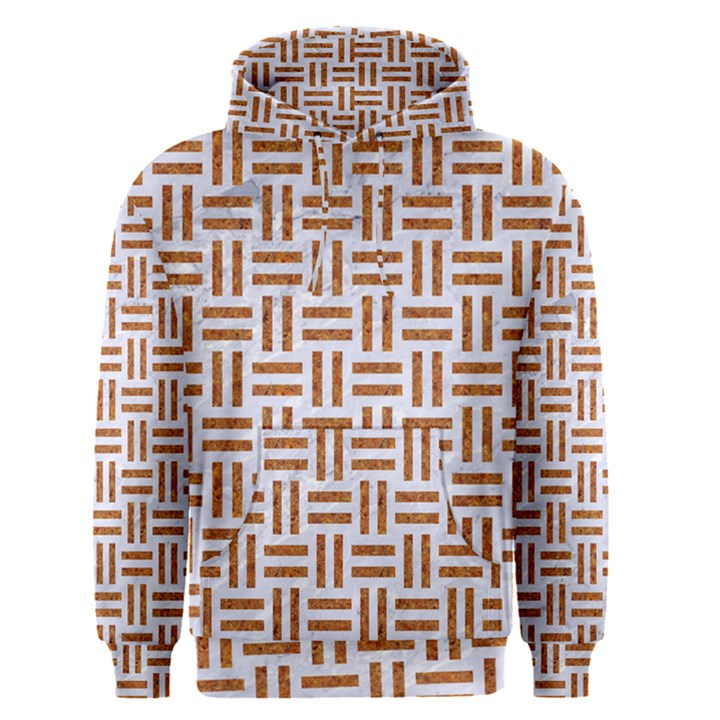 WOVEN1 WHITE MARBLE & RUSTED METAL (R) Men s Pullover Hoodie