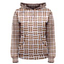 WOVEN1 WHITE MARBLE & RUSTED METAL (R) Women s Pullover Hoodie View1