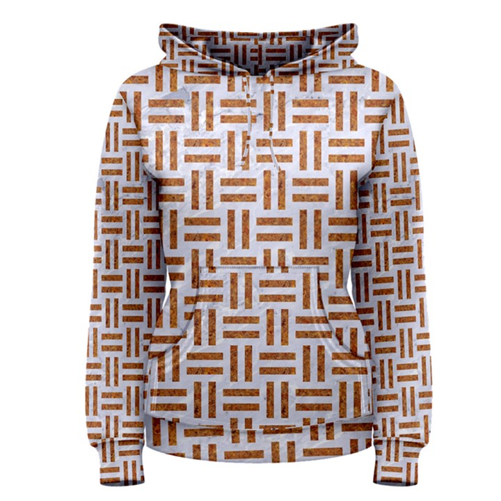 WOVEN1 WHITE MARBLE & RUSTED METAL (R) Women s Pullover Hoodie