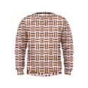 WOVEN1 WHITE MARBLE & RUSTED METAL (R) Kids  Sweatshirt View1