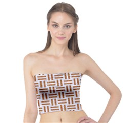 Woven1 White Marble & Rusted Metal (r) Tube Top