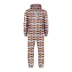 Woven1 White Marble & Rusted Metal (r) Hooded Jumpsuit (kids)
