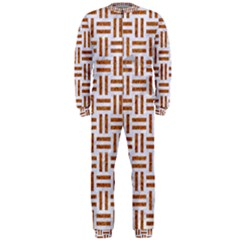 Woven1 White Marble & Rusted Metal (r) Onepiece Jumpsuit (men)