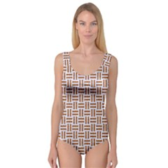 Woven1 White Marble & Rusted Metal (r) Princess Tank Leotard