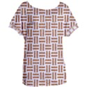 WOVEN1 WHITE MARBLE & RUSTED METAL (R) Women s Oversized Tee View1