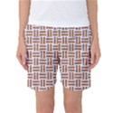 WOVEN1 WHITE MARBLE & RUSTED METAL (R) Women s Basketball Shorts View1