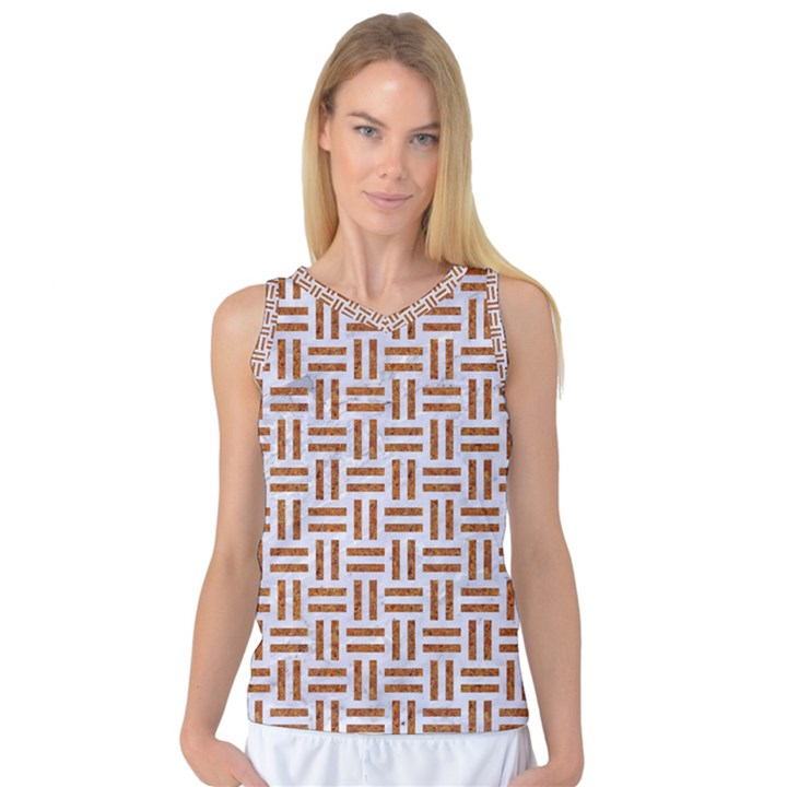 WOVEN1 WHITE MARBLE & RUSTED METAL (R) Women s Basketball Tank Top