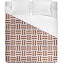 WOVEN1 WHITE MARBLE & RUSTED METAL (R) Duvet Cover (California King Size) View1