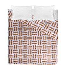 Woven1 White Marble & Rusted Metal (r) Duvet Cover Double Side (full/ Double Size)