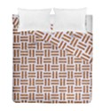 WOVEN1 WHITE MARBLE & RUSTED METAL (R) Duvet Cover Double Side (Full/ Double Size) View1