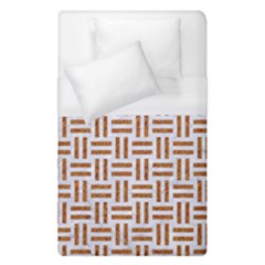 Woven1 White Marble & Rusted Metal (r) Duvet Cover (single Size)