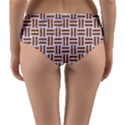 WOVEN1 WHITE MARBLE & RUSTED METAL (R) Reversible Mid-Waist Bikini Bottoms View4