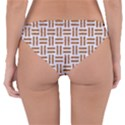 WOVEN1 WHITE MARBLE & RUSTED METAL (R) Reversible Hipster Bikini Bottoms View4