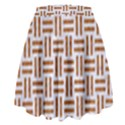 WOVEN1 WHITE MARBLE & RUSTED METAL (R) High Waist Skirt View2