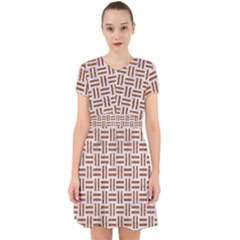 Woven1 White Marble & Rusted Metal (r) Adorable In Chiffon Dress