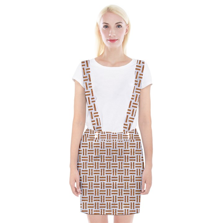 WOVEN1 WHITE MARBLE & RUSTED METAL (R) Braces Suspender Skirt