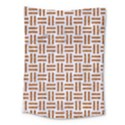 WOVEN1 WHITE MARBLE & RUSTED METAL (R) Medium Tapestry View1