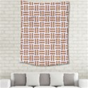 WOVEN1 WHITE MARBLE & RUSTED METAL (R) Medium Tapestry View2