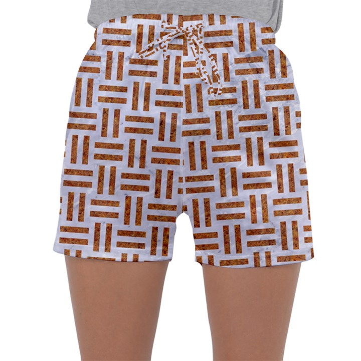 WOVEN1 WHITE MARBLE & RUSTED METAL (R) Sleepwear Shorts