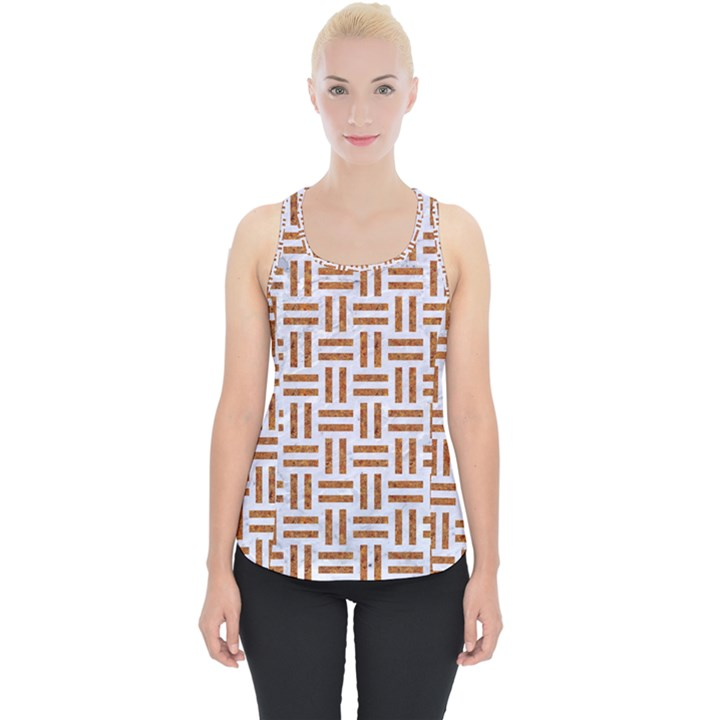 WOVEN1 WHITE MARBLE & RUSTED METAL (R) Piece Up Tank Top