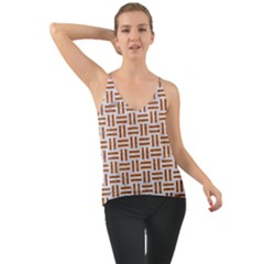 Woven1 White Marble & Rusted Metal (r) Cami