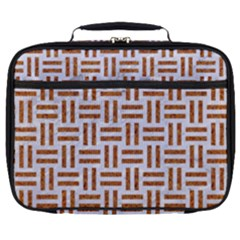 Woven1 White Marble & Rusted Metal (r) Full Print Lunch Bag