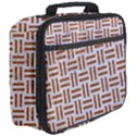 WOVEN1 WHITE MARBLE & RUSTED METAL (R) Full Print Lunch Bag View3