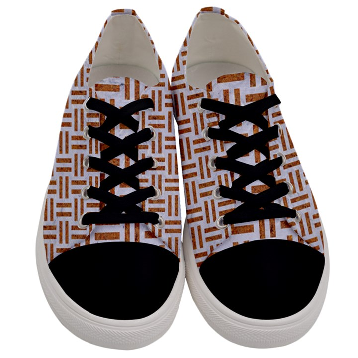 WOVEN1 WHITE MARBLE & RUSTED METAL (R) Men s Low Top Canvas Sneakers