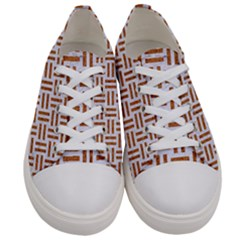 Woven1 White Marble & Rusted Metal (r) Women s Low Top Canvas Sneakers