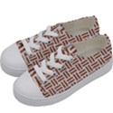 WOVEN1 WHITE MARBLE & RUSTED METAL (R) Kids  Low Top Canvas Sneakers View2