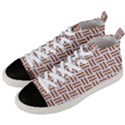 WOVEN1 WHITE MARBLE & RUSTED METAL (R) Men s Mid-Top Canvas Sneakers View2