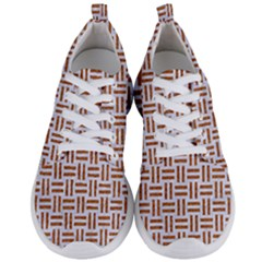 Woven1 White Marble & Rusted Metal (r) Men s Lightweight Sports Shoes