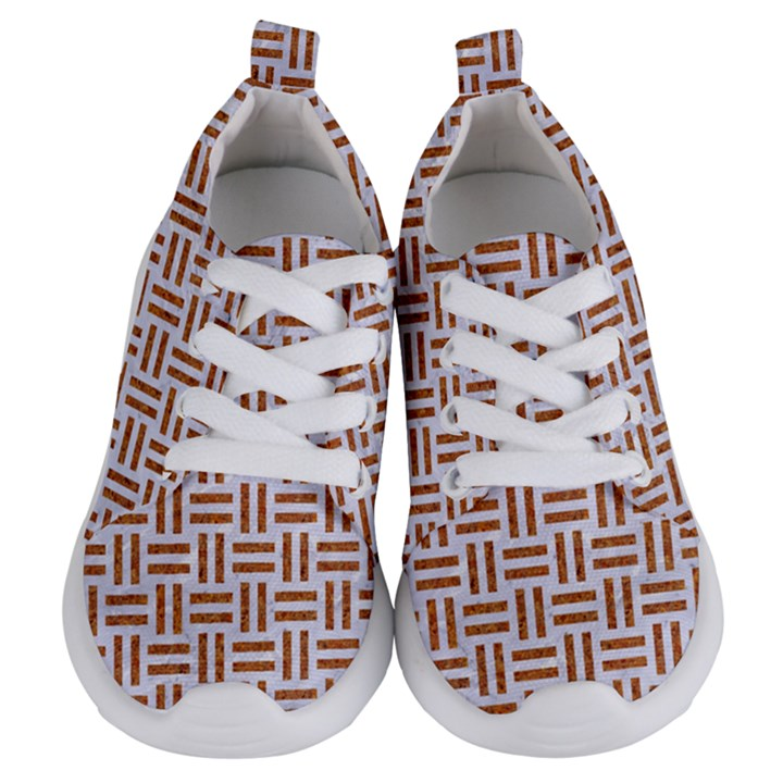 WOVEN1 WHITE MARBLE & RUSTED METAL (R) Kids  Lightweight Sports Shoes