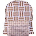 WOVEN1 WHITE MARBLE & RUSTED METAL (R) Giant Full Print Backpack View1