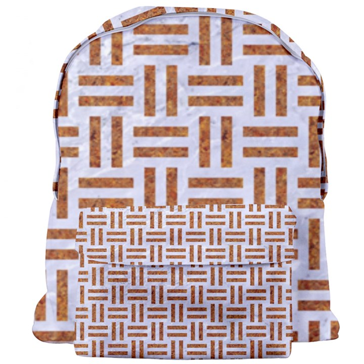 WOVEN1 WHITE MARBLE & RUSTED METAL (R) Giant Full Print Backpack