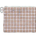 WOVEN1 WHITE MARBLE & RUSTED METAL (R) Canvas Cosmetic Bag (XXXL) View1