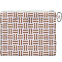 WOVEN1 WHITE MARBLE & RUSTED METAL (R) Canvas Cosmetic Bag (XXXL) View2