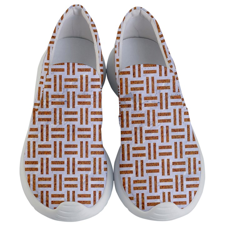 WOVEN1 WHITE MARBLE & RUSTED METAL (R) Women s Lightweight Slip Ons
