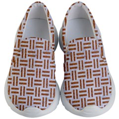 Woven1 White Marble & Rusted Metal (r) Kid s Lightweight Slip Ons